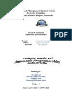 Automaes Programmables Industriels (API) AVEC SOMMAIRE.doc