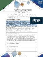 Guía de actividades y rúbrica de evaluación - Fase  2 - Analizar el Proceso Productivo y elaborar Diagramas de Flujo, Sinóptico, de Recorrido e IDEF0