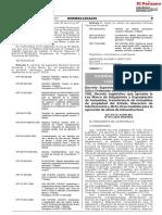 TUO del Decreto Legislativo Nº 1192 Ley Marco de Adquisición y Expropiación de inmuebles para obras públicas
