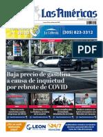 DIARIO LAS AMÉRICAS Portada digital del lunes 26 de octubre de 2020