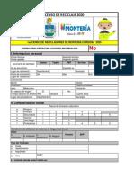 FORMATO CENSO RECICLADORES MONTERIA