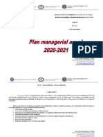Liceul GRR - Plan Managerial Anual 2020-2021