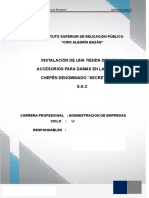 PROYECTO DE INVERSION- ROPA