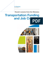 Smart Growth America report on transportation stimulus spending
