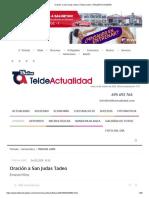 Oración a San Judas Tadeo _ Tribuna Libre _ TELDEACTUALIDAD