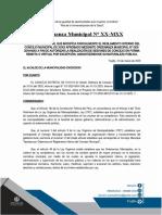 MODELO DE ORDENANZA MUNICIPAL QUE MODIF_CA PARCIALMENTE EL REGLAMENTO INTERNO DEL CONCEJO