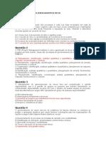 EXERCÍCIOS DE FIXAÇÃO DE GERENCIAMENTO DE RISCOS