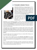 Biografía de Fernando Lafuente Clavero