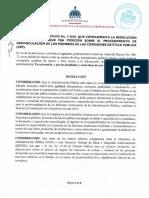 Resolución DIGEIG-07-2020, complementaria de la No. 3-2020
