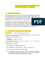CORRECTION DE LA SERIE REVISION THERMOCINETIQUE