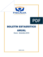fiscalia Chile, Boletín institucional enero diciembre 2019