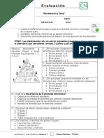 Evaluación ALIMENTACION Y SALUD
