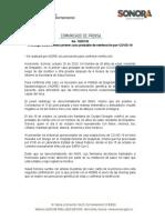 20-10-20 Investiga Salud Sonora primer caso probable de reinfección por COVID-19
