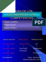 ORIGEN DE LOS  ESTANDARES Y LAS  COMPETENCIAS.ppt