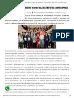 COREPES são exemplo inédito de controle não estatal sobre empresa pública, afirma Tarso – Vereador Armando