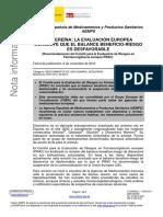 ACR Diacereina concepto desfavorable AEMPS