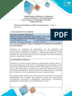 Guia de actividades y Rúbrica de evaluación 201422 - Fase 4