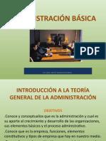 INTRODUCCIÓN A LA TEORÍA GENERAL DE LA ADMINISTRACIÓN