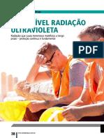 a invisível radiação UV