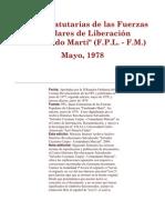 Bases Estatutarias de las Fuerzas Populares de Liberación