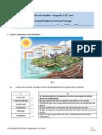 1. Geografia A 10 - Ficha de trabalho - Recursos hídricos 1