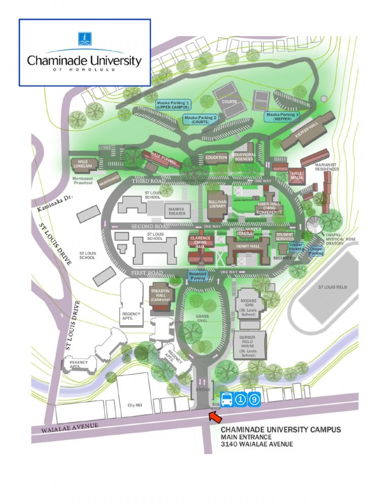 chaminade university campus map Map Of Cuh chaminade university campus map