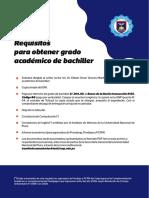 1.- Requisitos para solicitar el grados académico de bachiller