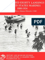 One Hundred Eighty Landings of United States Marines 1800-1934