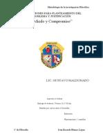INSTRUCCIONES PARA PLANTEAMIENTO DEL PROBLEMA Y JUSTIFICACIÓN