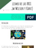 El idealismo de las RRII (Wodrow Wilson y Kant)