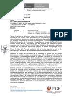 Oficio enviado por la Procuraduría General del Estado