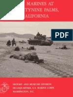 U.S.marines at Twenty Nine Palms California