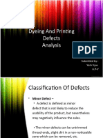 Dyeing and printing defects