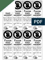 Etiqueta ASF