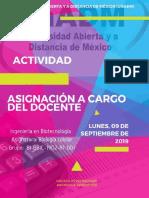 Asignación a Cargo del Docente. Biología Celular.