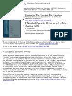 A detailed dynamic model of a six DOF