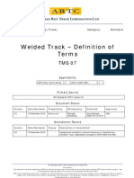 TMS 07 - C 2501 - Welded Track - Definition of Terms