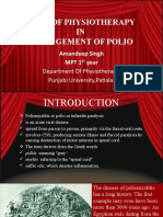 ROLE OF PHYSIOTHERAPY IN MANAGEMENT OF POLIO..SEMINAR