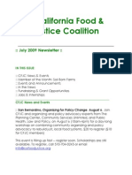 July 2009 California Food and Justice Coalition Newsletter