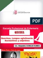 PPT Semana 5 Quechua, lengua aglutinante sustantivos adjetivos y  numeros