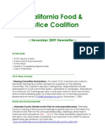 November 2009 California Food and Justice Coalition Newsletter