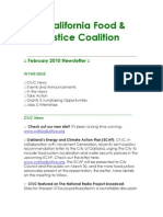 February 2010 California Food and Justice Coalition Newsletter