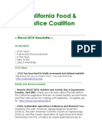March 2010 California Food and Justice Coalition Newsletter