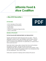 May 2010 California Food and Justice Coalition Newsletter