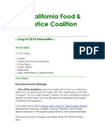 August 2010 California Food and Justice Coalition Newsletter