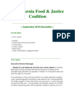 September 2010 California Food and Justice Coalition Newsletter