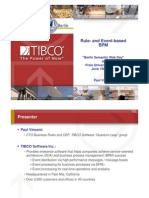 TIBCO on Event Driven BPM 0609