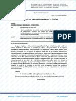 CARTA N° 063-2020 QUISVAR C&C – SVMGG