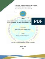 ESTRUCTURA SOCIALY LA ORGANIZACION PRODUCTIVA EN LA EX HACIENDA HUANDO DEL DISTRITO DE HUARAL, 2018