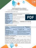 Guía de actividades  y Rubrica de evaluaciòn- Fase 2 -  Análisis